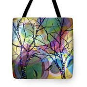 Circle Trees Tote Bag