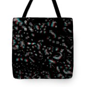 Circles And Squares - Use Red-cyan 3d Glasses Tote Bag