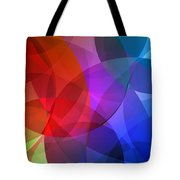 Circles In Colorful Abstract Tote Bag