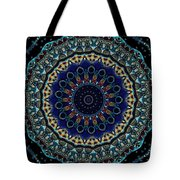 Circles Of Blue Tote Bag