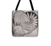 Circles Of Zen Tangle Tote Bag