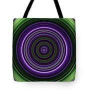 Circular Concentric Stripes In Multiple Colors Tote Bag