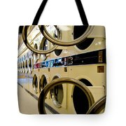 Circular Doors On Laundromat Washing Machines Tote Bag