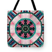 Circular Patchwork Art Tote Bag