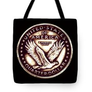 Circulated Standing Liberty  Reverse Tote Bag