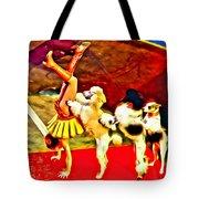Circus Dog Act Tote Bag