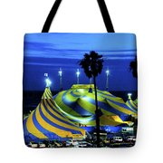 Circus Tent Swirls Of Blue Yellow Original Fine Art Photography Print  Tote Bag