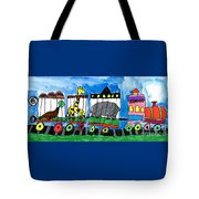 Circus Train Tote Bag