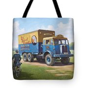 Circus Truck Tote Bag by Mike  Jeffries