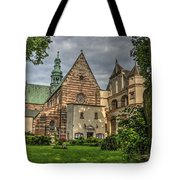 Cistercian Church From 12th And 13th Century In Wachock In Poland Tote Bag