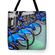 Citibike Rentals Nyc Tote Bag
