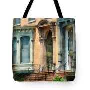 Cities - Albany Ny Brownstone Tote Bag