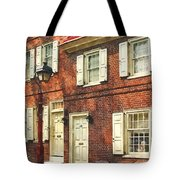 Cities - Philadelphia Brownstone Tote Bag
