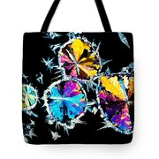 Citric Acid Crystals In Polarized Light Tote Bag