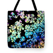 Citric Acid Microcrystal Colorful Abstract Art Tote Bag