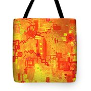 Citrus Circuitry Tote Bag