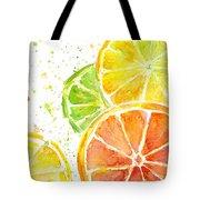 Citrus Fruit Watercolor Tote Bag