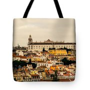 City And Cathedral Lisbon Portugal Tote Bag