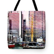City And Water Tote Bag