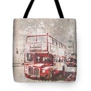 City-art London Red Buses II Tote Bag by Melanie Viola