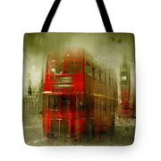 City-art London Red Buses Tote Bag by Melanie Viola