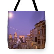 City At Night, San Francisco Tote Bag