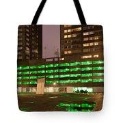 City At Night Urban Abstract Tote Bag