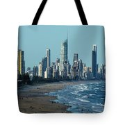 City At The Waterfront, Surfers Tote Bag