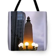 City At Twilight Tote Bag