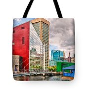 City - Baltimore Md - Harbor Place - Future City  Tote Bag