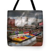 City - Baltimore Md - Modern Maryland Tote Bag by Mike Savad
