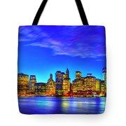 City Blue Tote Bag