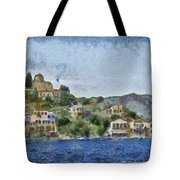 City By The Sea Tote Bag by Ayse Deniz