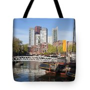 City Centre Of Rotterdam In Netherlands Tote Bag