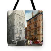 City - Chattanooga Tn - 1943 - The Masonic Temple - Both Tote Bag