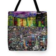 City Dawn Art Cityscape  Tote Bag
