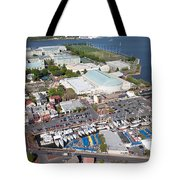 City Dock And Usna In Annapolis Tote Bag