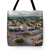 City Dock Panorama Tote Bag