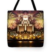 City Fireworks Tote Bag