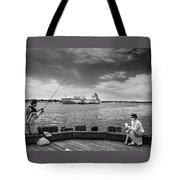 City Fishing Tote Bag by Bob Orsillo