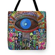 City Garden Hamsa Tote Bag