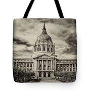 City Hall Antiqued Print Tote Bag