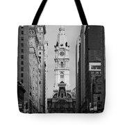 City Hall B/w Tote Bag
