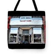 City Hall Courtyard Tote Bag