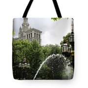 City Hall Park And Fountain Tote Bag