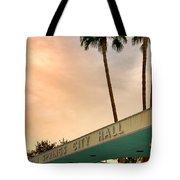 City Hall Sky Palm Springs City Hall Tote Bag