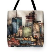 City - Hoboken Nj - New York Skyscrapers Tote Bag