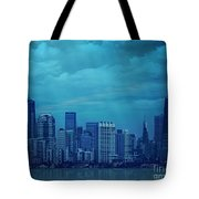 City In Blue Tote Bag