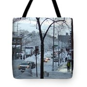 City In Snow Tote Bag