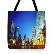 City In Twilight Tote Bag